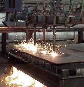 We offer CNC-Flame cutting.